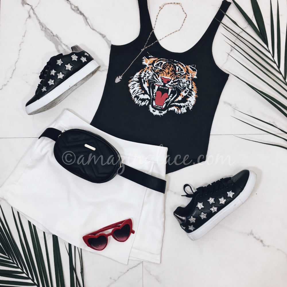 CHASER TIGER BODYSUIT AND SKORT OUTFIT