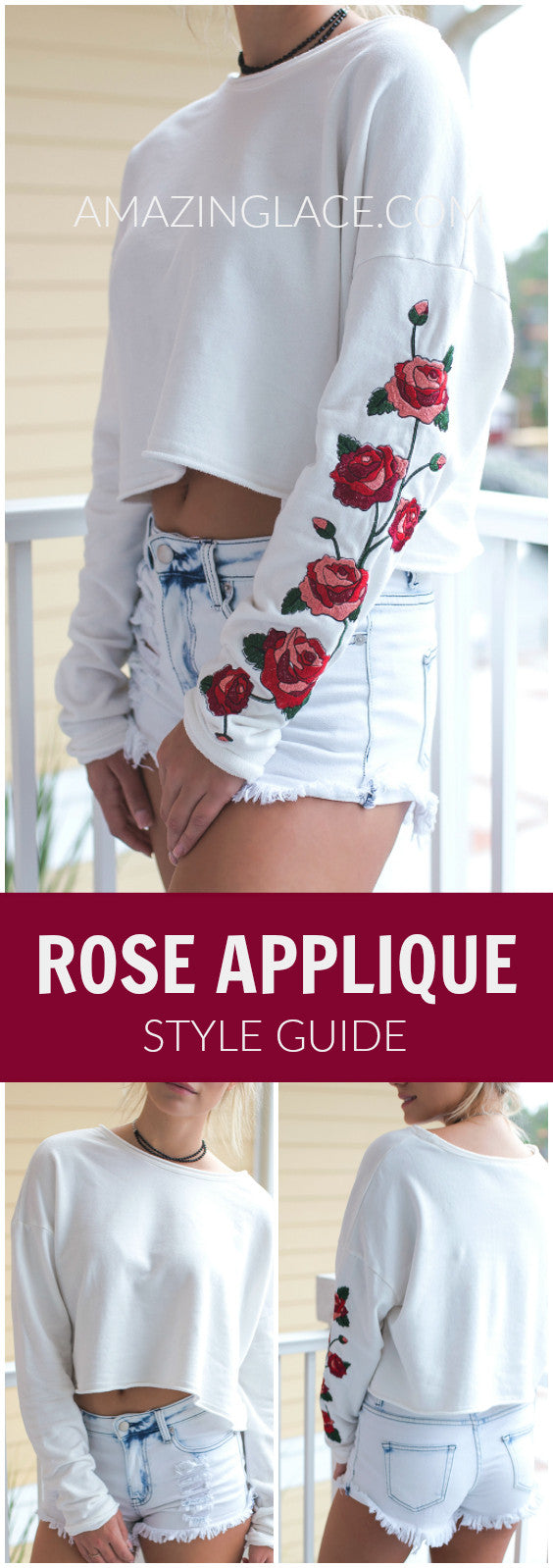 Our Best Selling Rose Applique Shirt