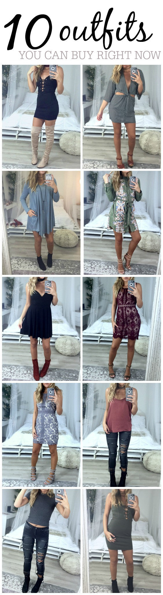 10 Outfits You Can Buy Right Now!