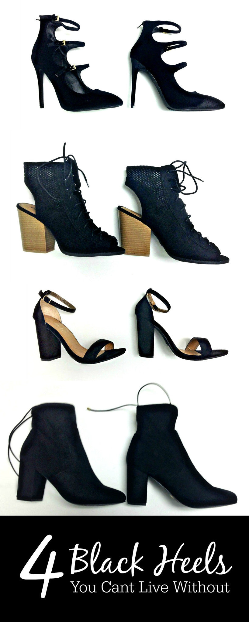 Four Black Heels You Can't Live Without