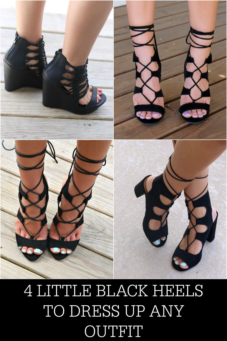 4 Little Black Heels To Dress Up Any Outfit