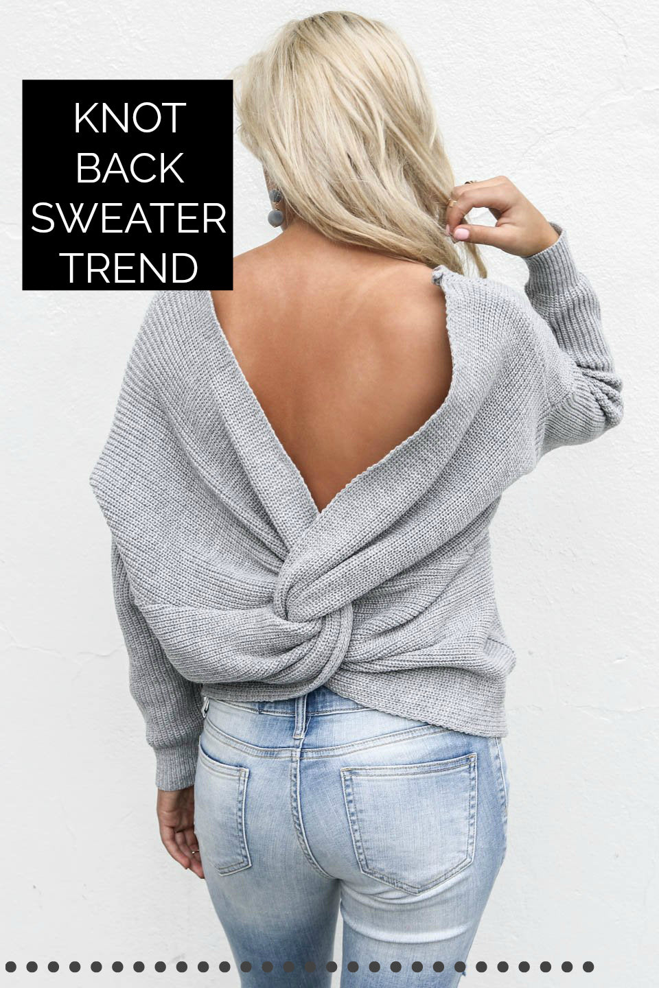 Knot Back Sweater Trend