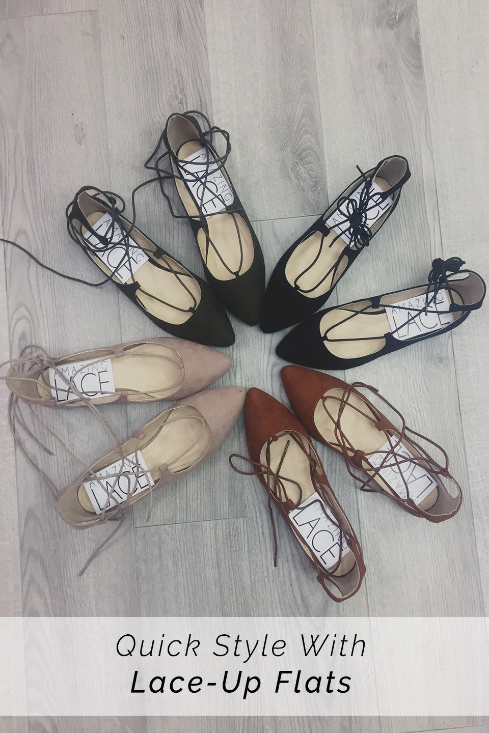 Quick Style With Lace-Up Flats
