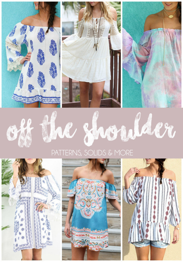 Off The Shoulder: Patterns, Solids and More