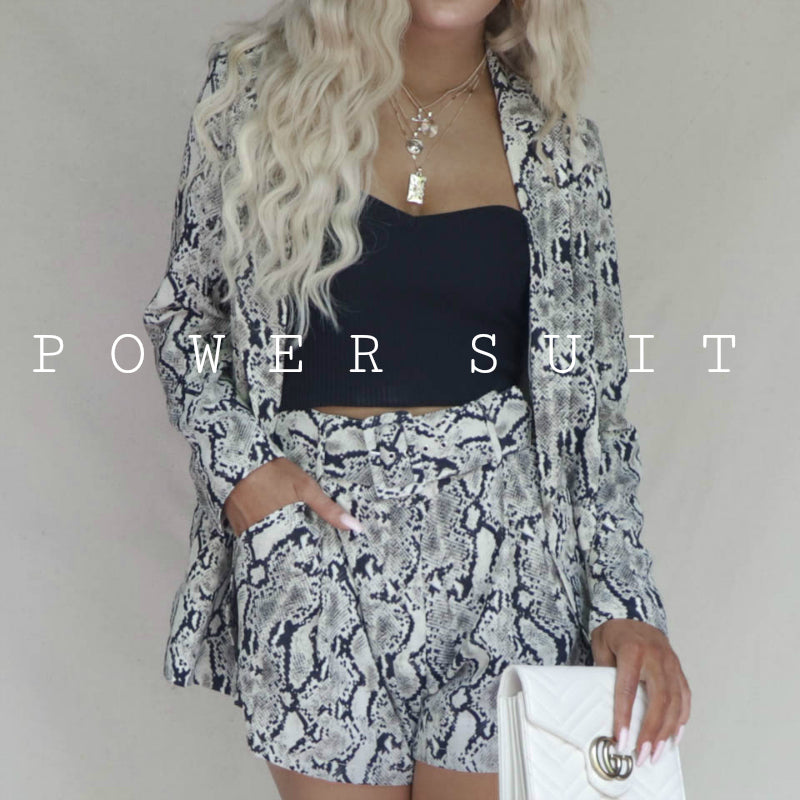 POWER SUIT! Python Blazer + Shorts