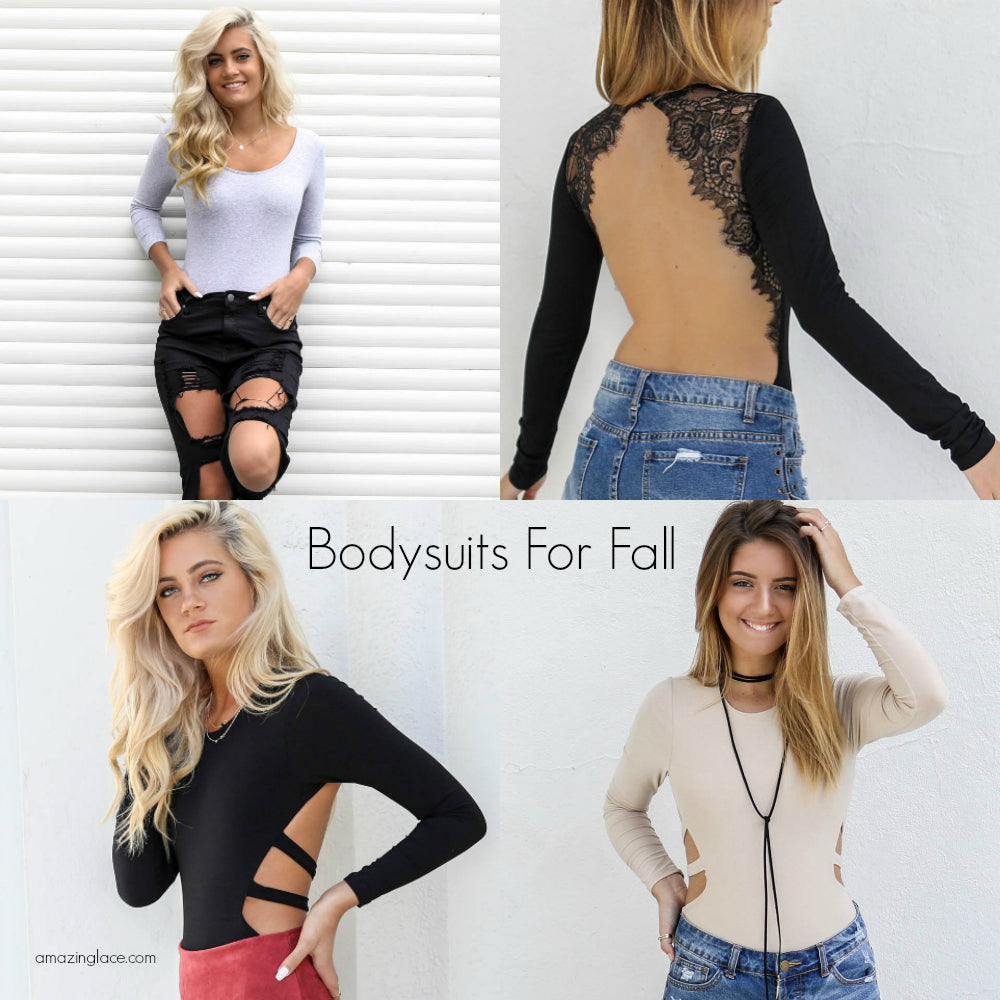 Long Sleeve Bodysuits For Fall