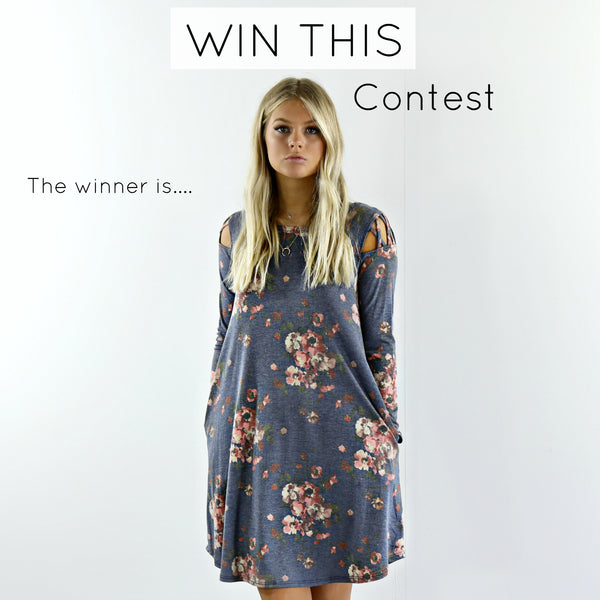 Contest Winner - Catch Feels Dress