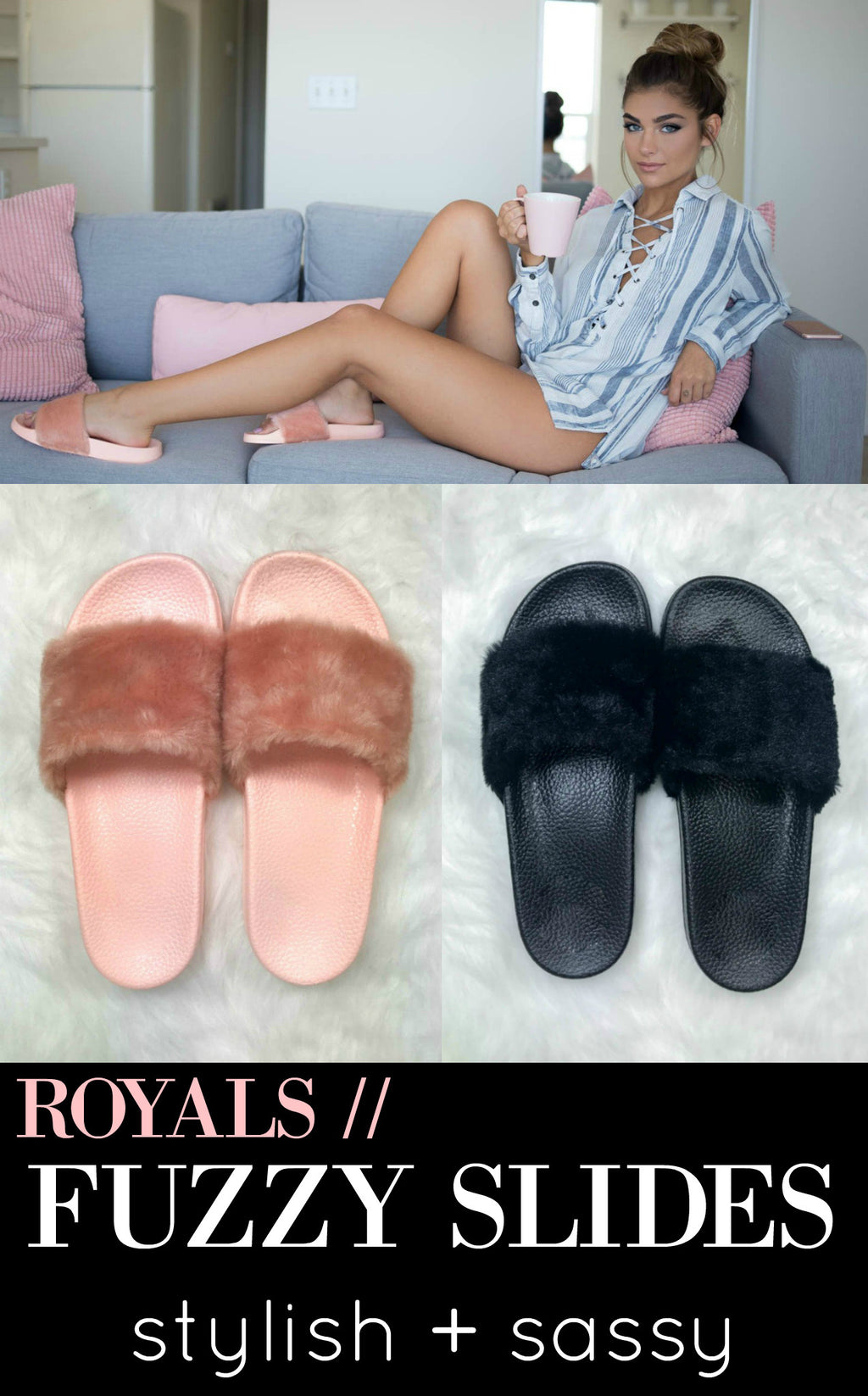 Royals Fuzzy Slides