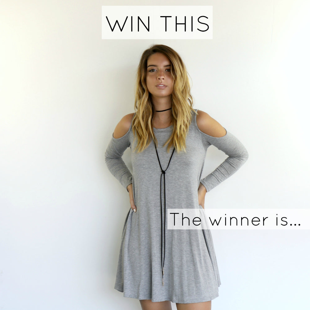 Contest Winner - Are You Ready Cold Shoulder Dress
