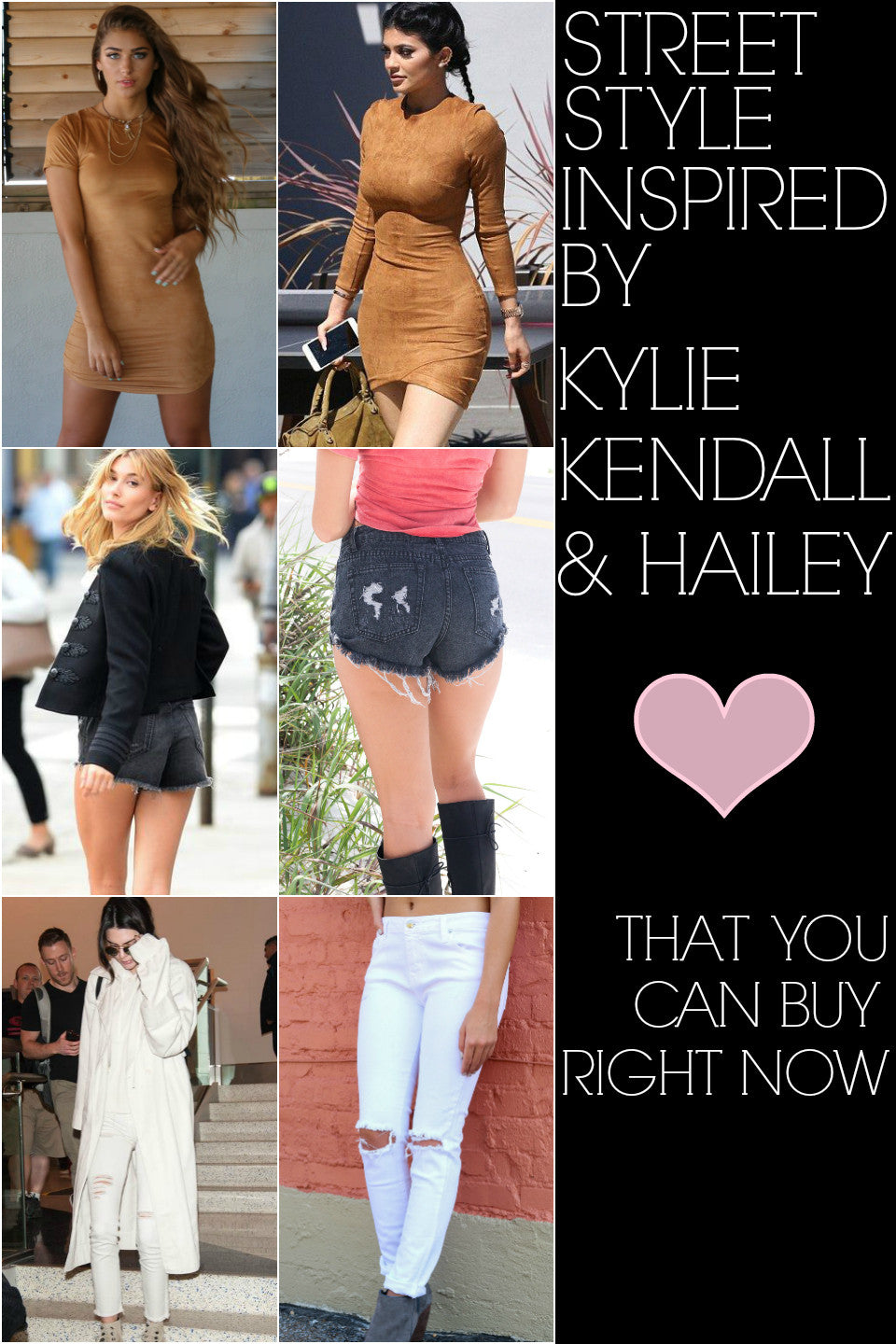 Street Style Inspired By Kylie, Kendall, & Hailey That You Can Buy Right Now!