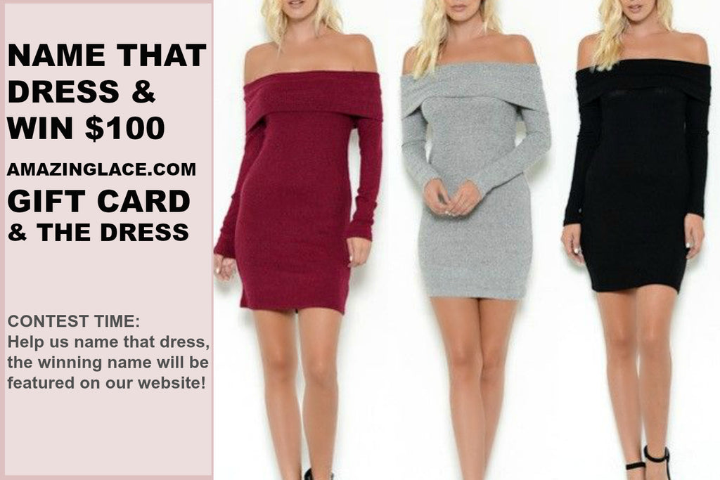 NAME THAT DRESS CONTEST & WIN $100 GIFT CARD PLUS THE DRESS