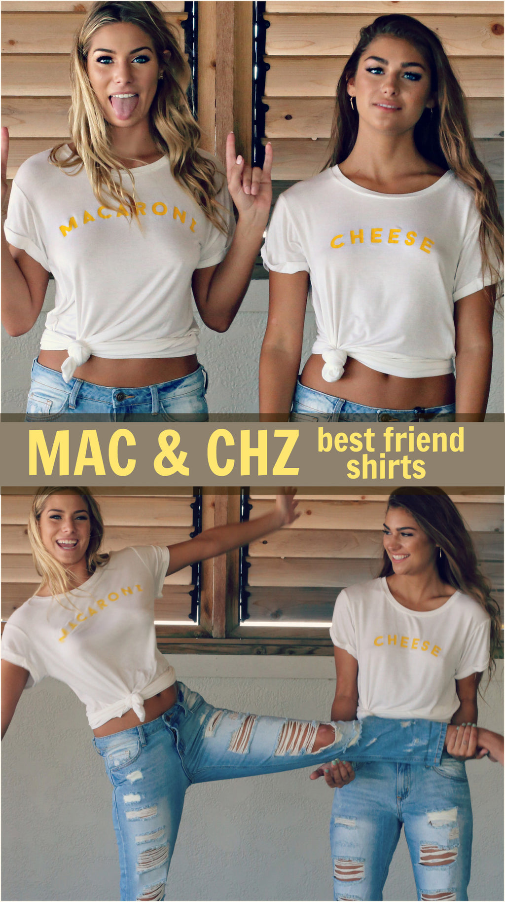 Macaroni and Cheese Best Friend Shirts