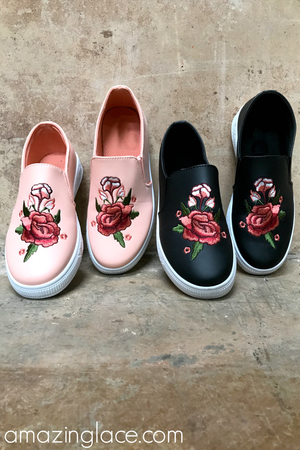 Rose Applique Sneakers