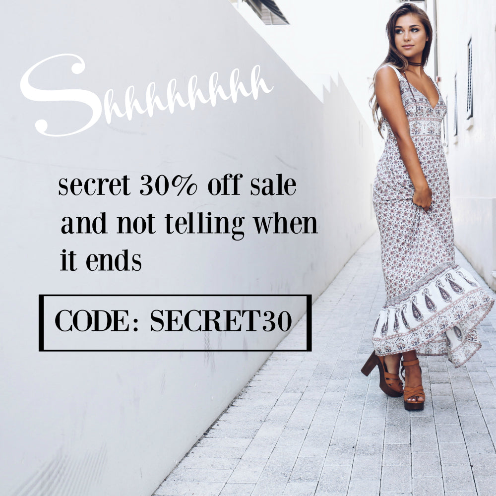 SECRET 30% OFF FLASH CODE