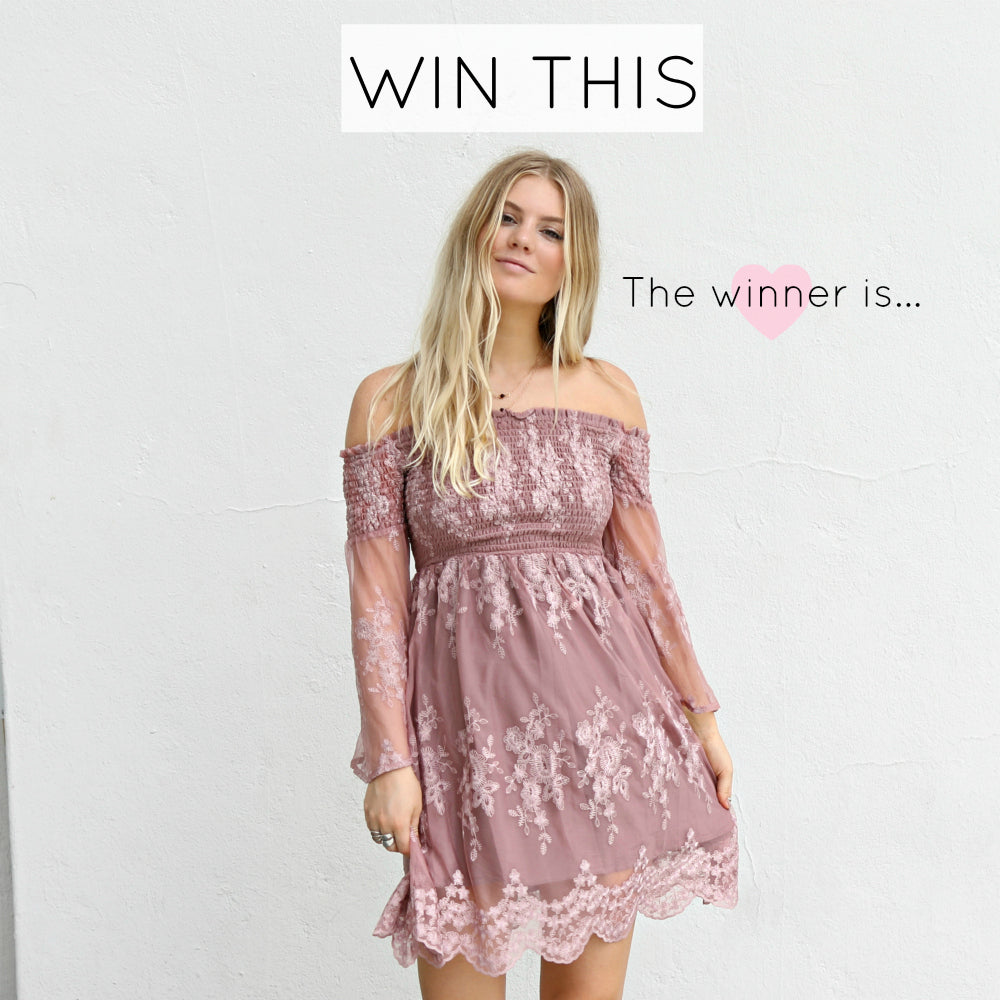 Contest Winner - Let Me Be Yours Dress