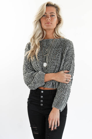 Gray Sweater Jeans Outfit