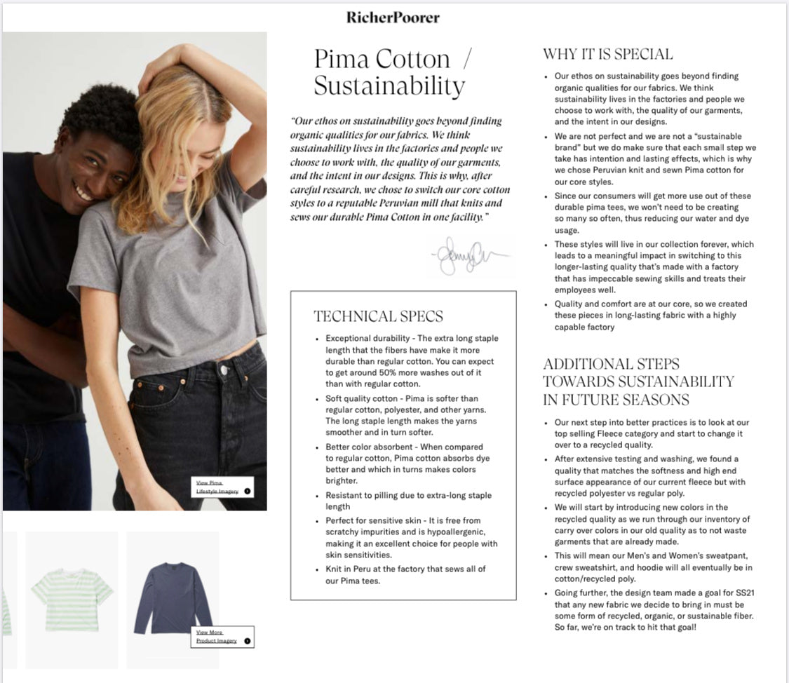 richer poorer sustainable fashion