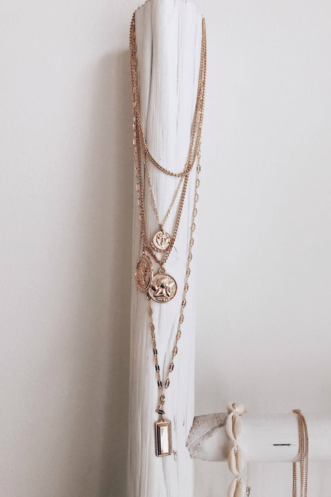 Cherub Bar Layered Necklace