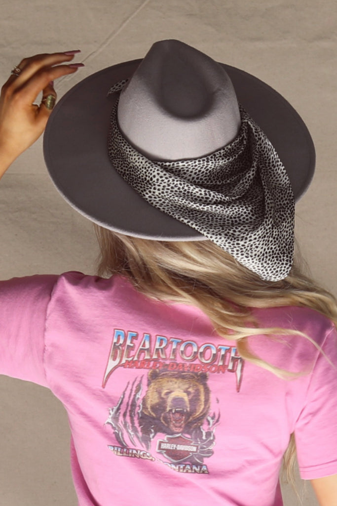 Urban Gray Wide Brimmed Wool Hat
