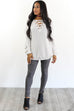 St. Cloud Stone Grommet Sweater - Amazing Lace