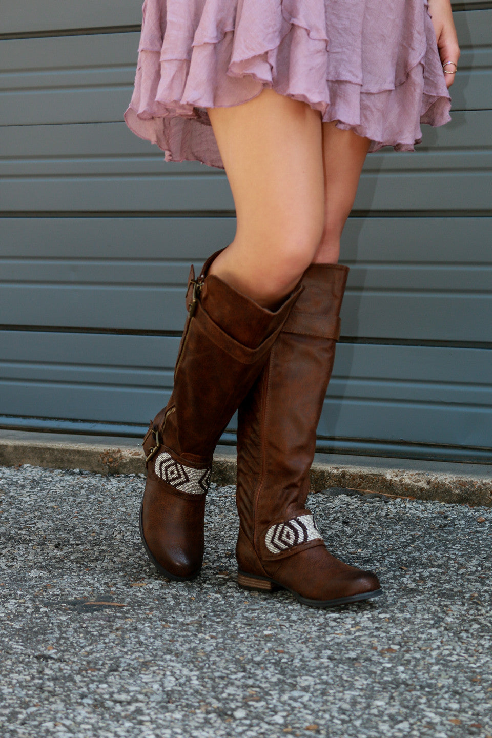 60925d6bb5ba ... NOT RATED Berlin Bay Dark Tan Festival Boot - Amazing Lace ...