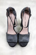 SZ 9.5 CHINESE LAUNDRY Ace Rich Velvet Smoke Platform Heels - Amazing Lace