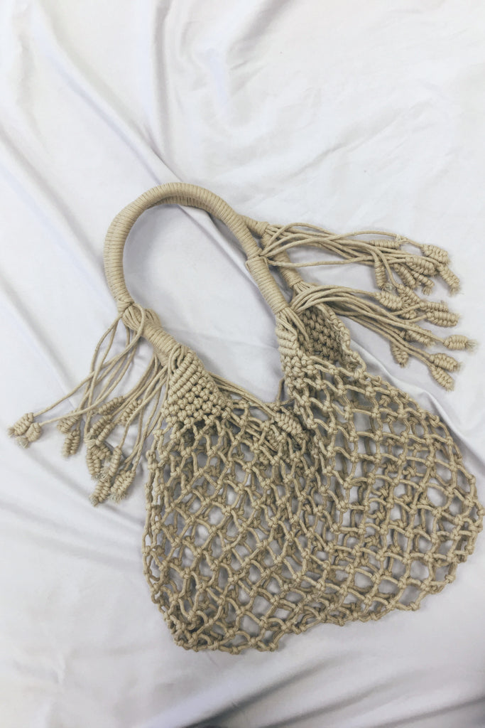 Cameron Gray Rope Bag