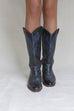 VINTAGE Black and Navy Western Boot