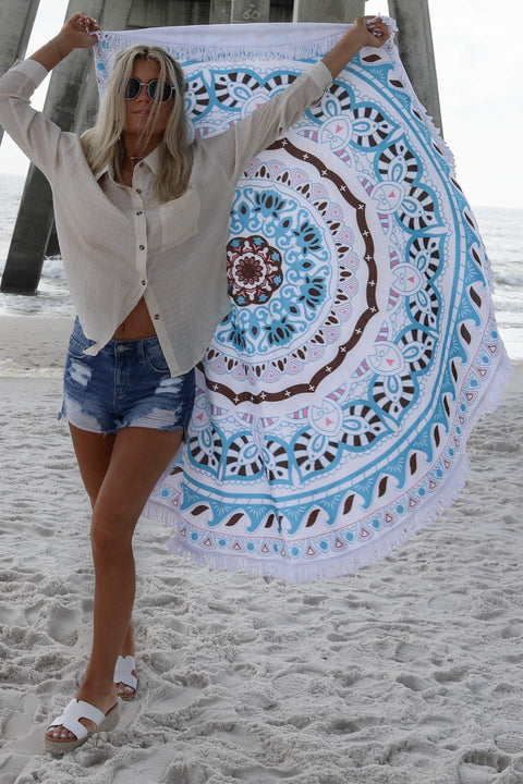 Boho Dream Round Beach Towel