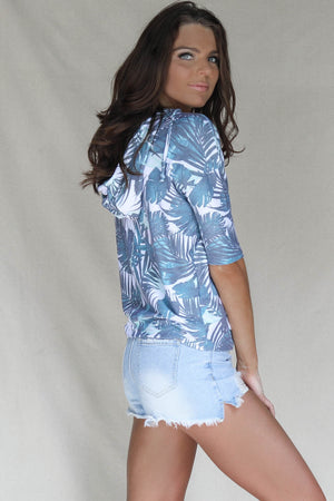 CHASER Tropical Palms Pullover