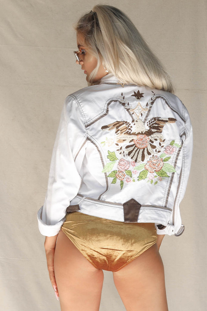 VINTAGE Embroidered Eagle Denim Jacket