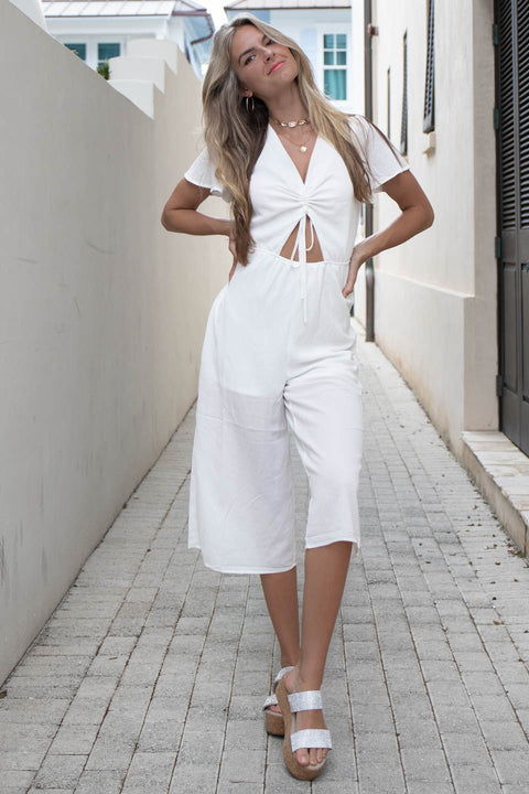 Athens White Jumpsuit