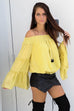 Reasons Unknown Mustard Off Shoulder Ruffle Top
