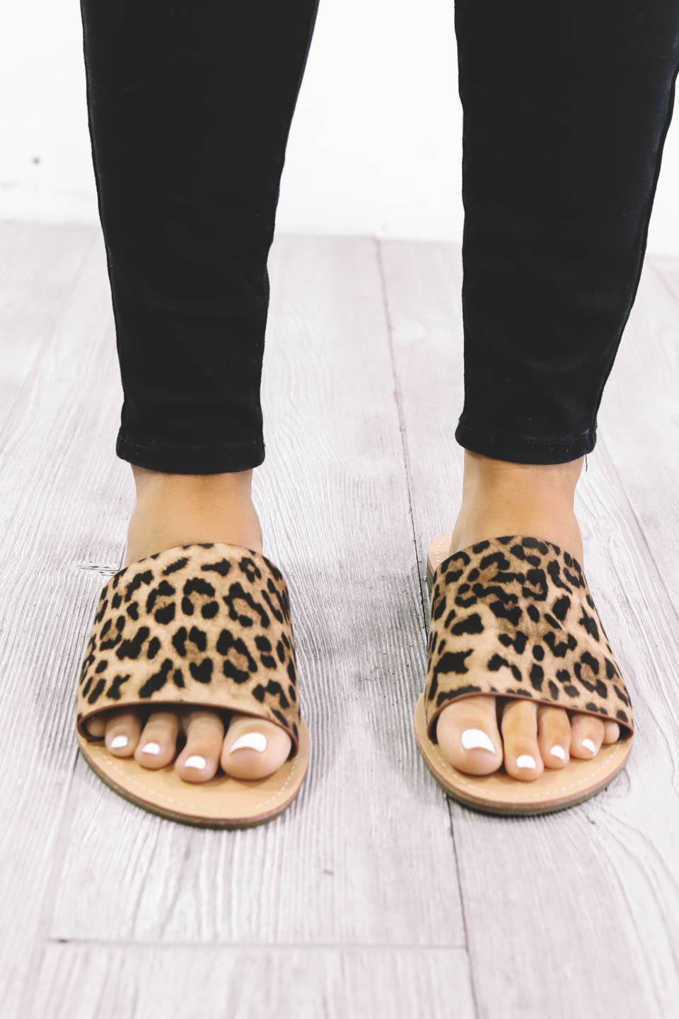 Addicted To Me Leopard Slides - Amazing Lace