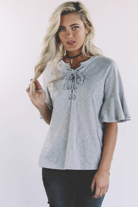 Make This Great Cool Gray Short Sleeve Top - Amazing Lace