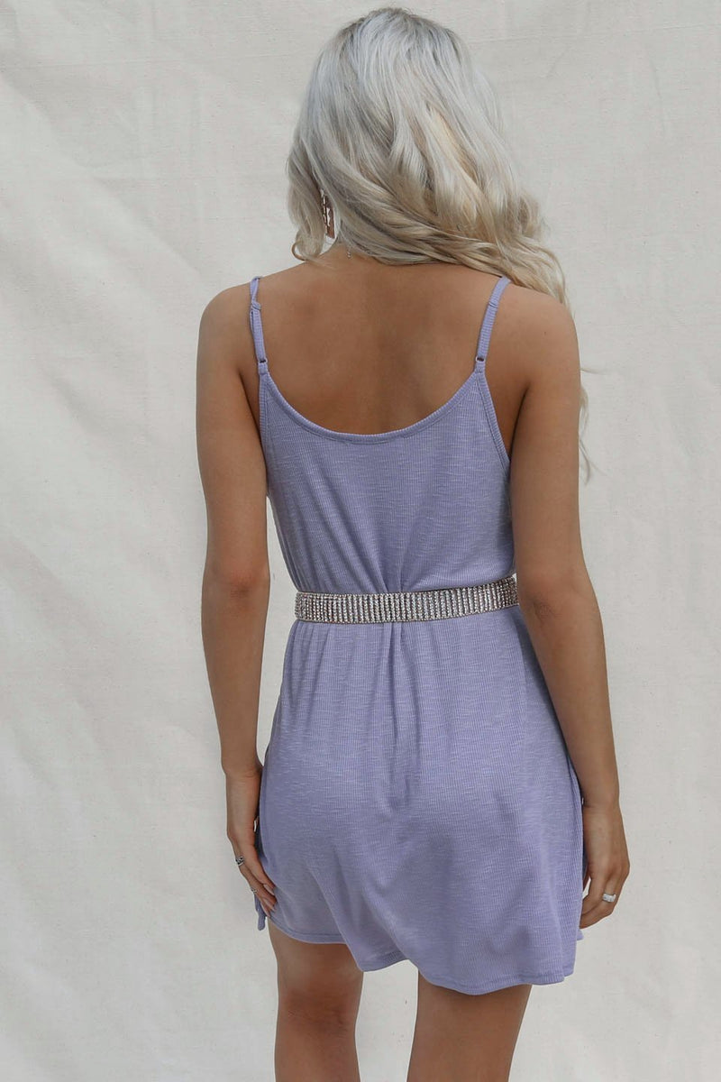 Called It Ribbed Lavender Mini Dress