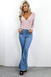 Feeling Famous Frayed Bell Bottom Jeans - Amazing Lace