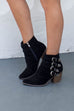 SZ 5.5 Walk That Walk Black Buckle Boots