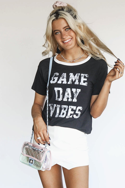 Black Game Day Vibes T Shirt