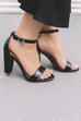 Take Me Dancing Black Patent Leather Heels - Amazing Lace