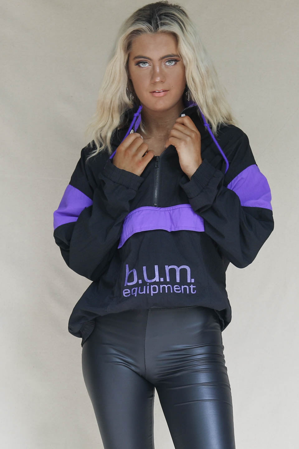 VINTAGE Black B.U.M. Windbreaker