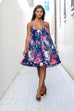 Flower Child Floral Spaghetti Strap Dress - Amazing Lace