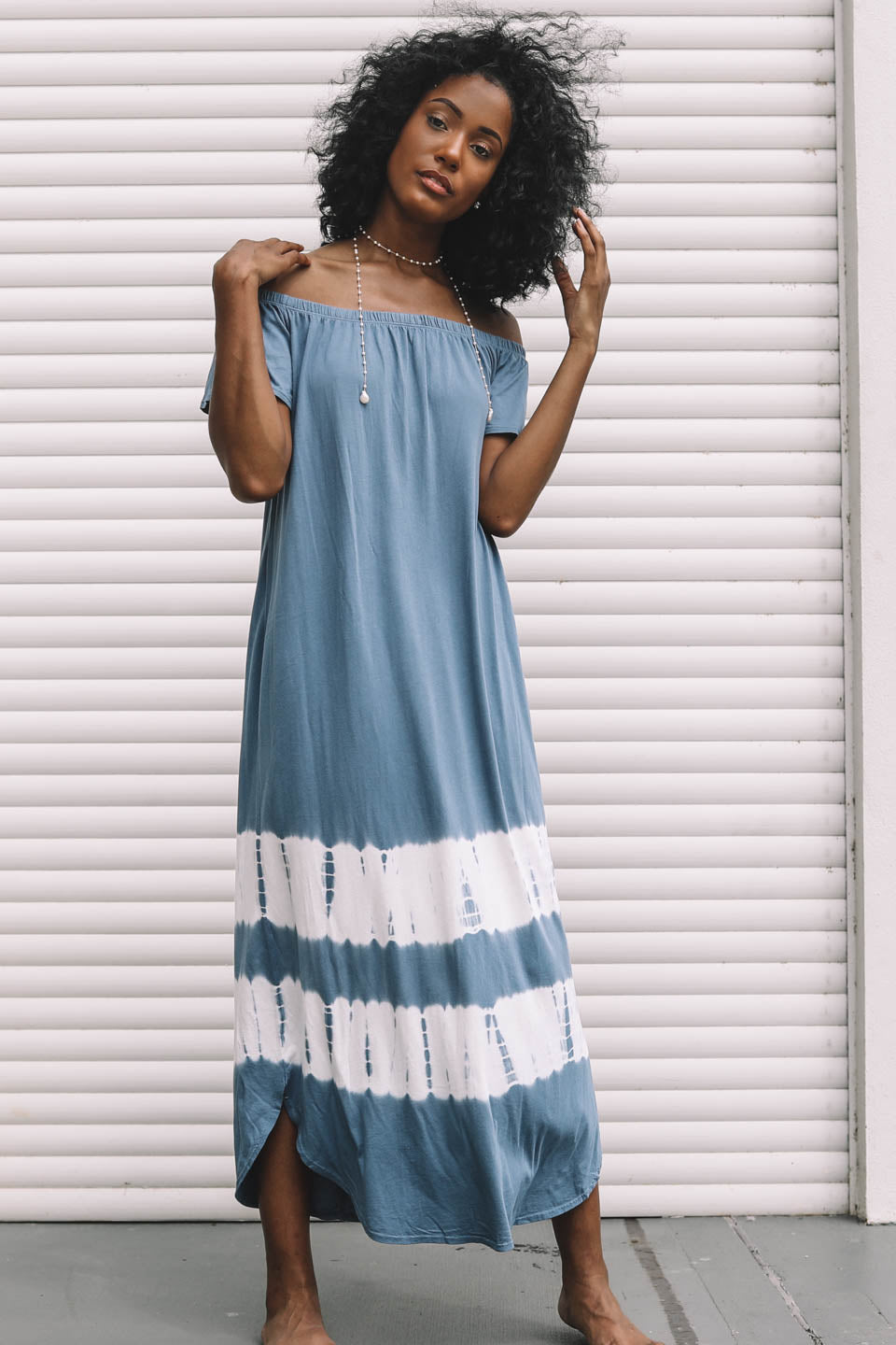 Up High Blue Tie Dye Dress - Amazing Lace