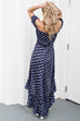 Forever Home Navy Off Shoulder Maxi Dress