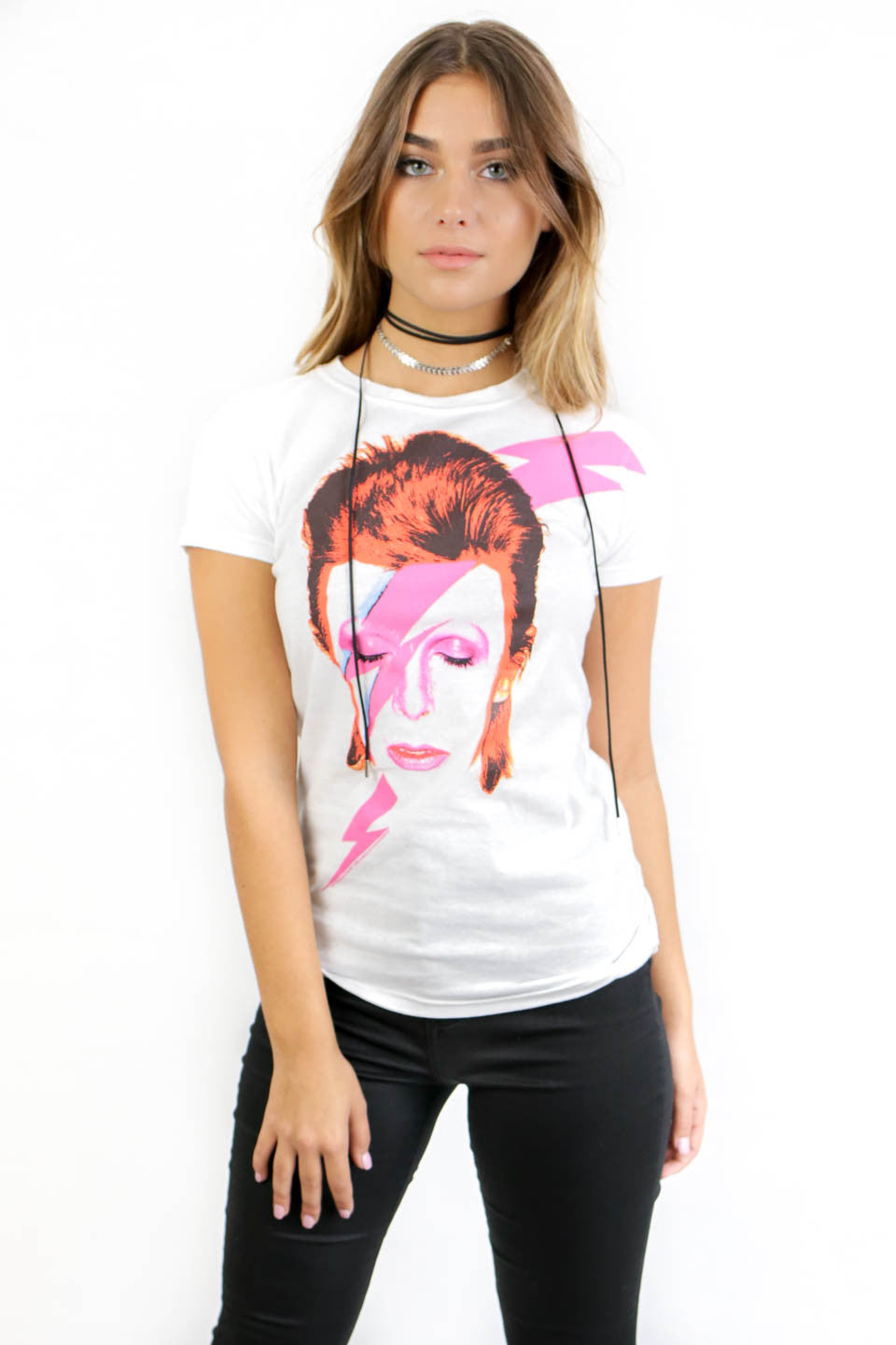 David Bowie Starman Top Band Tee - Amazing Lace