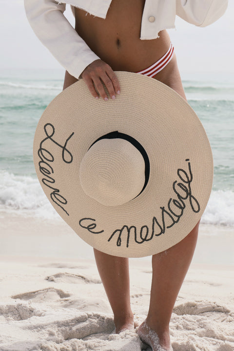 Leave A Message Floppy Beach Hat