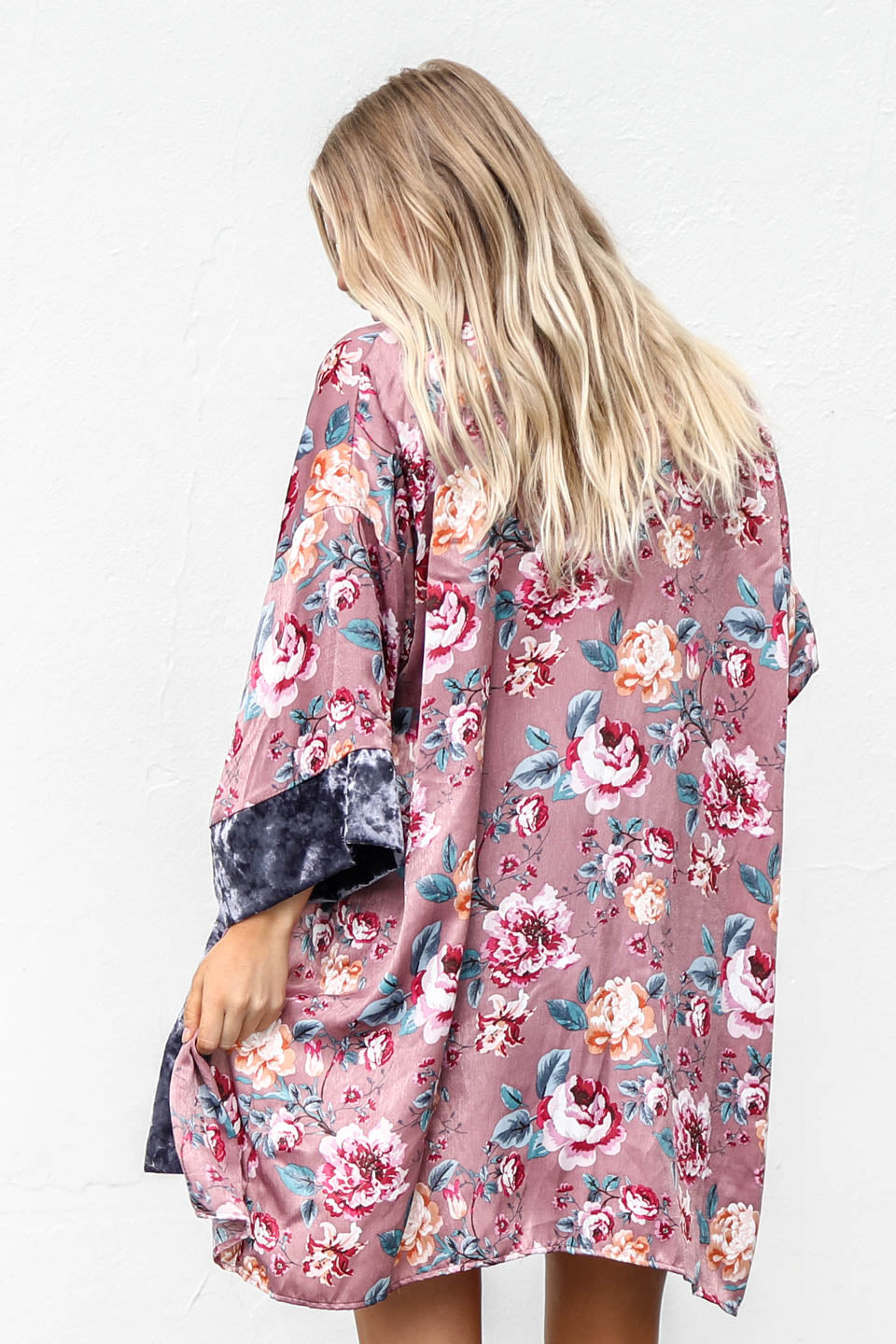 Make It Alright Floral Print Open Cardigan - Amazing Lace
