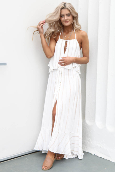 Yesterday Feeling Linen Boho Maxi Skirt