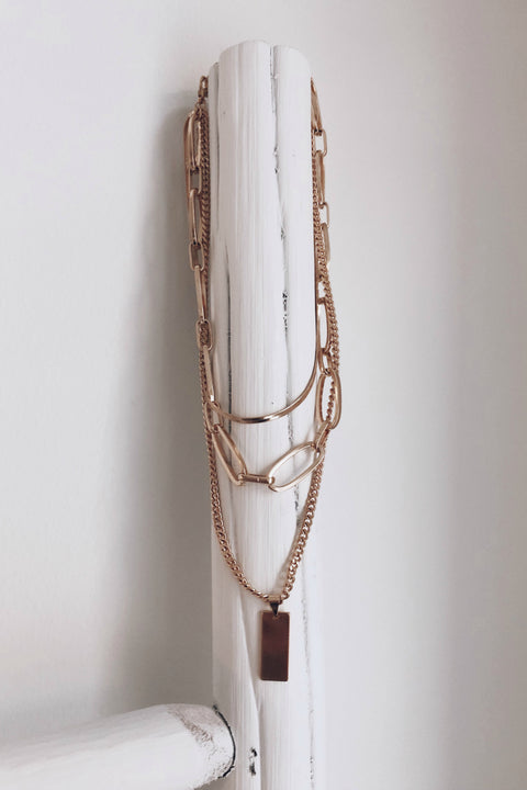 Brooklyn Gold Layered Chain Necklace