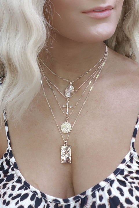 The Distance Layered Gold Necklace